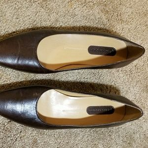 Rockport Brown leather Ballet Slipper type flat s